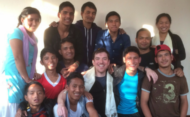 Conor Grennan and the Nepalese staff