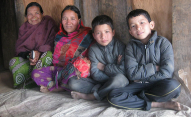 Reunited with family in Nepal